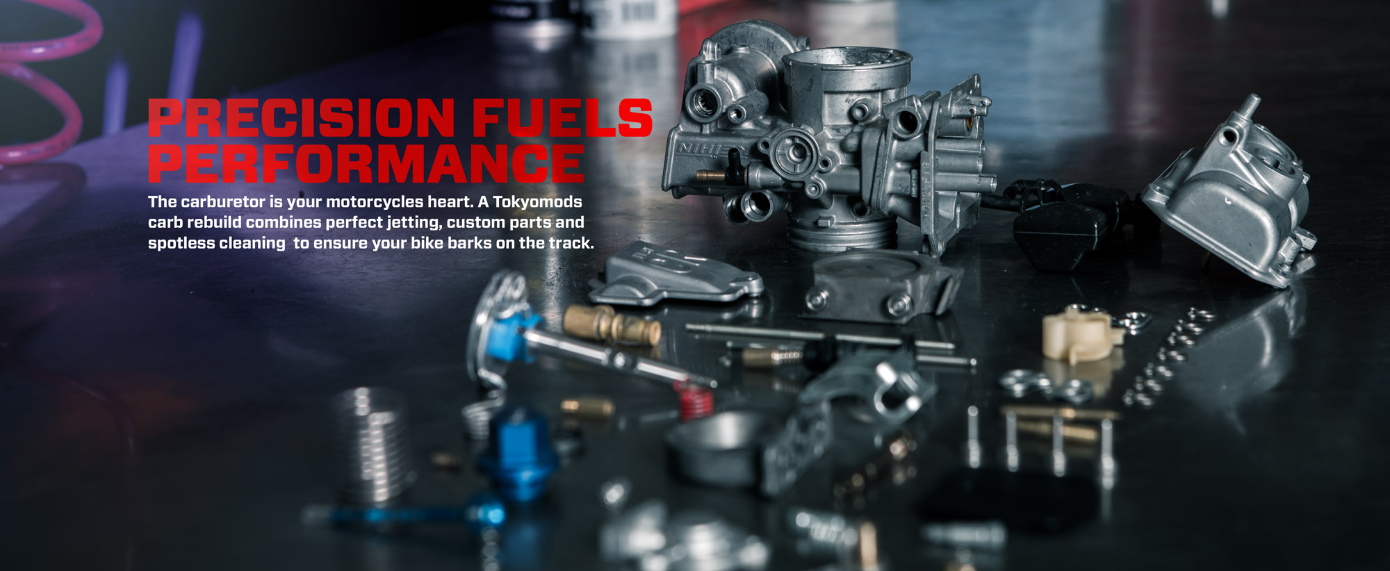 Precision carburator rebuilds