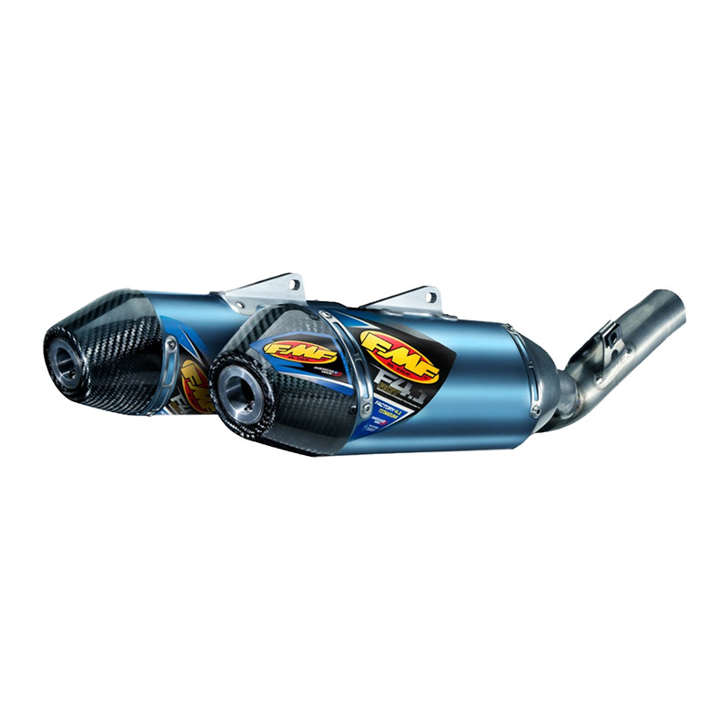 FMF 4.1 RCT FULL SYSTEM EXHAUST BLUE ANODIZED